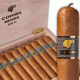 Cohiba Behike 54   opened box 10 and 1 stick   side   web2 260x260 Top seller